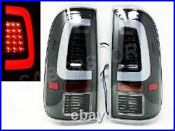 Pair Black C-Bar LED Taillights for 2008-2016 Ford F-250/350/450/550 SuperDuty