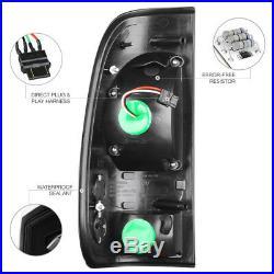 Pair Black Headlights Super Bright LED Tail Lights 2005 2006 2007 Ford F250 XL