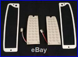 Pair LED Brake Stop Turn Tail Light Inserts & Gaskets for 1964-72 Ford Truck