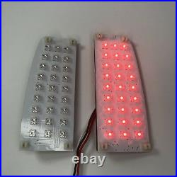 Pair LED Sequential Tail Lights Insert for 1966-77 Ford Bronco & 1964-72 Truck