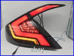 Pair LED Smoked Rear Tail Light Brake Assembly For Honda Civic Sedan 2016-2020