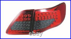 Pair LED Tail Lights Red Smoked For Toyota Corolla 2008-2010 ZRE152 Taillight