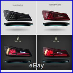Pair Tail Lights LED Red Lens Rear Lamp Fit For Lexus IS250 IS350 IS F 2006-2012