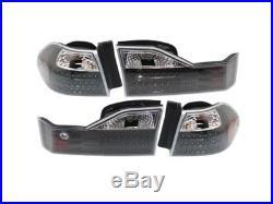 Performance Honda Accord 4Dr Sedan 98 99 00 Led Black Inner Outer Tail Light Set