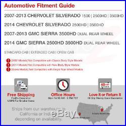 Phantom Smoke 07-13 Chevy Silverado LED Tail Light Brake Signal Lamp L+R Pair