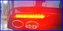Rear 3Way Turn Signal Sequential LED Reflector Lights (Fits KIA 2018+ Stinger)