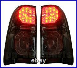 Rear Black Smoke Led Tail Light Lamp Use For Toyota Hilux Vigo Sr5 Mk6 Mk7 05-15