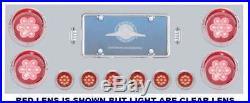 Rear LED tail light panel stainless steel for Peterbilt Kenworth Freightliner