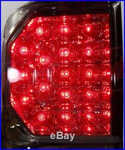 Rear Led Smoke Black Tail Light Lamp Toyota Hilux Vigo Sr5 05-11 Champ Mk7 12-14