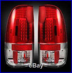 Recon Ford Super Duty 99-07 & F-150 97-03 Red Led Tail Lights Part# 264172rd