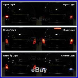 Red 2006-2011 Mercedes Benz W164 ML-Class Full LED Rear Brake Fog Tail Lights