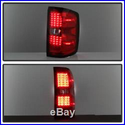 Red 2014 2015 2016 2017 2018 Chevy Silverado 1500 LED Tail Lights Brake Lamps