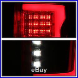 Red 2015 2016 2017 2018 Ford F150 FULL LED withBlind Spot Sensor Tail Lights Lamps