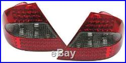 Red Black LED tail lights rear lights for Mercedes CLK W209 A209 from 2005