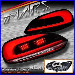 Red Clear 3D Tail lights & LED Indicators for VW Volkswagen SCIROCCO 1S MY08-14