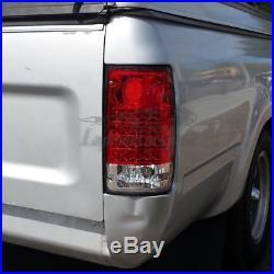 Red Clear Lens LEDFor 1989-1995 Toyota Hilux Pickup LED Brake Tail Lights Pair