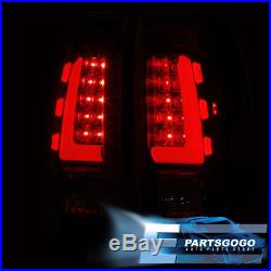 Red LED Tube Tail Lights For 1999-2006 Chevy Silverado GMC Sierra Black Housing