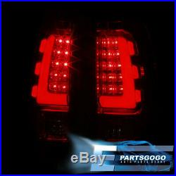 Red Led Tube Tail Lights For 99 00 01 02 03 04 05 06 Chevy Silverado Gmc Sierra