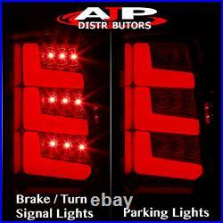 Red Len LED Tube Bar Brake Tail Lights Lamps For 2000-2006 Suburban Yukon Tahoe