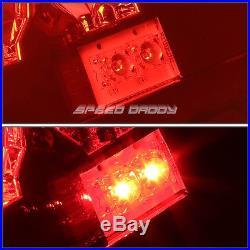 Red Lens Chrome Housing Led Brake Tail Light For 03-07 Chevy Silverado/sierra