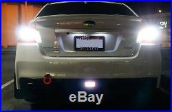 Red Lens LED Rear Fog Light, Brake and Backup Reverse For 2011+ Subaru WRX STi