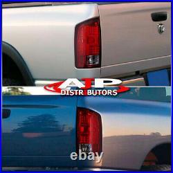 Red Lens LED Tube Tail Lights Brake Lamps For 2002-2006 Dodge Ram 1500 2500 3500
