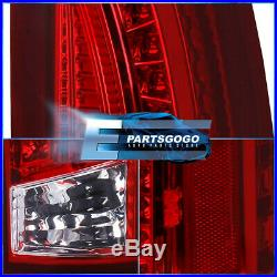 Red Lens Led Tail Lights For 88-98 Chevy Gmc Ck C10 1500 2500 Silverado Sierra
