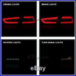 Red Mitsubishi 2008-2017 Lancer 08-15 EVO X Full LED Rear Brake Tail Lights