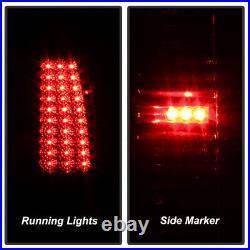 Red Smoke 1999-2002 Chevy Silverado 1500 2500 3500 LED Tail Lights Brake Lamps