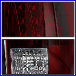 Red Smoke 2007-2014 Cadillac Escalade ESV LED Tail Lights Lamps 07-14 Left+Right
