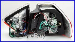 Red Smoke LED Light Bar Tail Lights Pair RH LH FITS BMW 3 Series 06-08 E90 4Dr