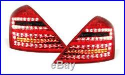 Red black LED tail lights rear lights for facelift Mercedes W221 05-09