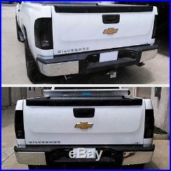 SINISTER BLACK 2007-2014 Chevy Silverado GMT Black Smoke LED Tail Lights Lamps