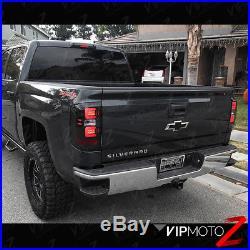 SINISTER BLACK Dark Smoke LED Neon Tube Tail Light 16-18 Chevy Silverado Truck