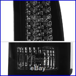 SINISTER BLACK GMC Sierra 2007-2013 Black Housing LED Tail Light Lamp Smoke