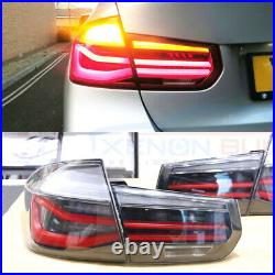 SMOKED Tail light Rear Lamps LED BMW 3 Series F30 F80 12-15 Dynamic Signal UK