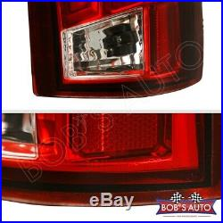 SPARTAN Red Clear 3D LED Taillights For 88-98 Chevy Cheyenne Silverado 2500