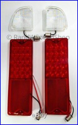 Set 67-72 Chevy GMC Truck Fleetside LED Reverse Lamps & Tail Lights Assembly Kit
