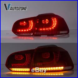 Set LED Rear Tail Light Brake Lamp Fit For Volkswagen Golf 6 MK6 GTI R 2010-2014