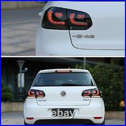 Set LED Smoked Tail Lights Brake Fit For Volkswagen Golf 6 MK6 GTI R 2010-2014