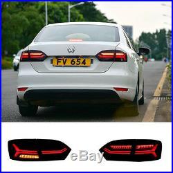Set Smoked Tail Lamps For Volkswagen VW Jetta MK6 2011-2014 Rear Lights Balck
