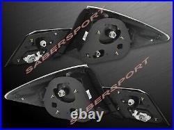 Set of 4pcs Black LED Taillights for 2013-2015 Honda Civic 4dr Sedan