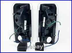 Set of Black C-Bar LED Taillights for 1989-1996 Ford F-150 F-250 F-350 Bronco