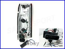 Set of Black C-Bar LED Taillights for 88-99 GM C/K 1500 2500 3500 Yukon Suburban