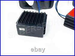Set of Black Smoke C-Bar LED Taillights for 1989-1996 Ford F150 F250 F350 Bronco