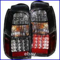 Set of Pair Black Housing LED Taillights for 1996-2002 Toyota 4Runner