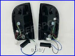 Set of Pair Black Smoke C-Bar LED Taillights for 1995-2000 Toyota Tacoma 2WD 4WD
