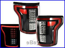 Set of Pair Eagle Eyes Full LED Taillights for 2015-2017 Ford F-150 XL XLT