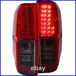 Set of Pair Red Smoke LED Taillights for 2005-2019 Nissan Frontier