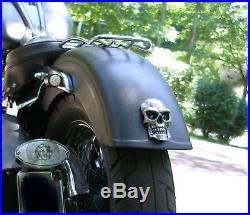 Skull Tail and Brake Light For Harley Chopper Motorcycles & Saddlebags -Red LEDs
